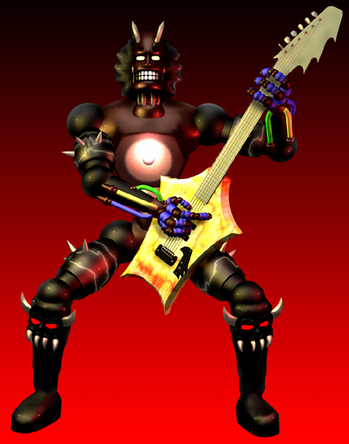 Guitar Warrior. You fight these guys using a guitar as a weapon.